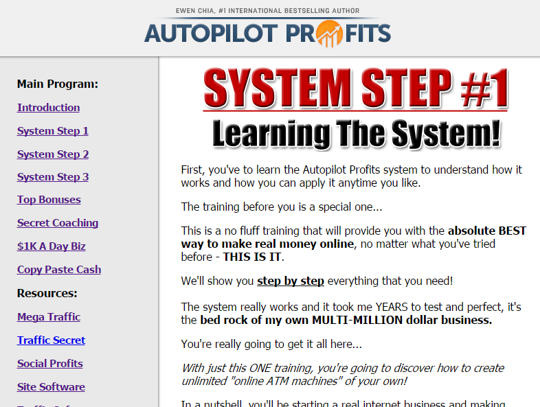 Autopilot Profits Step By Step System